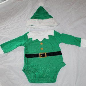 Other - Baby Elf One Piece Hat Christmas Costume NWT